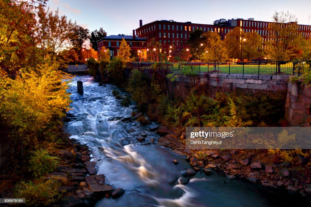 Autumn in Lowell, Massachusetts : Stock Photo