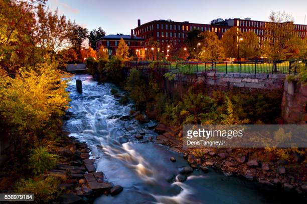 autumn in lowell, massachusetts - massachusetts stock pictures, royalty-free photos & images