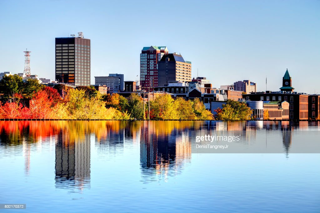 Autumn in Manchester, New Hampshire : Stock Photo
