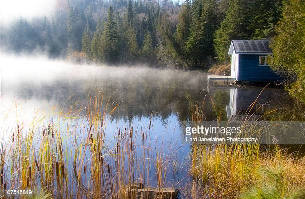 autumn in mont tremblant - mont tremblant stock pictures, royalty-free photos & images