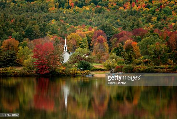 autumn in new hampshire - place of worship stock pictures, royalty-free photos & images