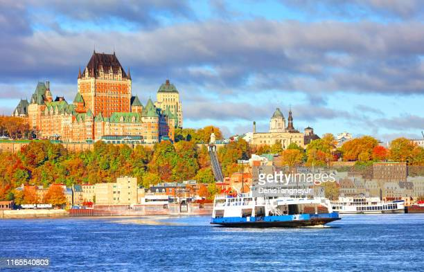 autumn in quebec city, quebec - quebec city stock pictures, royalty-free photos & images