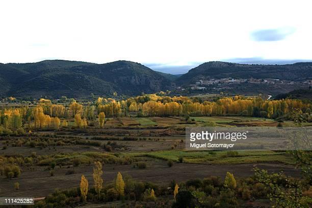 autumn in spain - cuenca provincia de cuenca fotografías e imágenes de stock