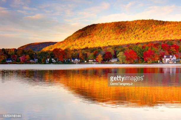 autumn in the berkshires of massachusetts - massachusetts stock pictures, royalty-free photos & images
