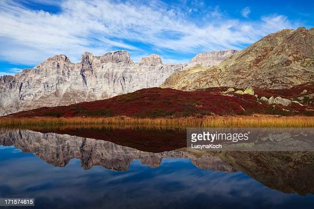 Herbst auf die Berge