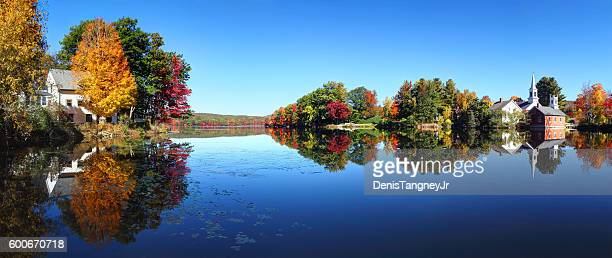 Autumn in the quaint village of Harrisville New Hampshire