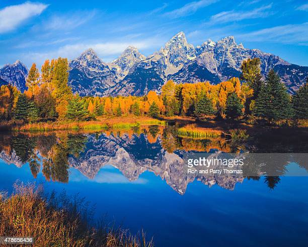 Herbst in der Snake River valley Grand Teton National Park