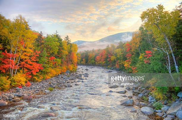 autumn in the white mountains national forest new hampshire - new hampshire stock pictures, royalty-free photos & images