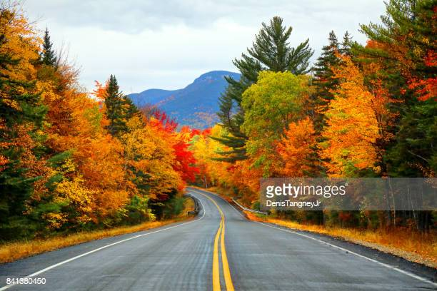 autumn in the white mountains of new hampshire - road stock pictures, royalty-free photos & images