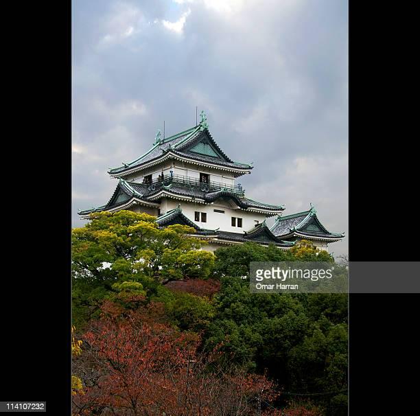 autumn in wakayama city - präfektur wakayama stock-fotos und bilder