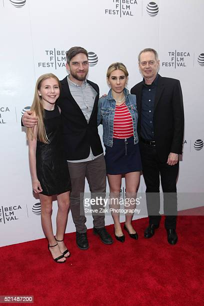 Autumn Kristy Anderson, Evan Jonigkeit, Zosia Mamet and Steve Buscemi attend the Tribeca Film Festival Shorts: New York Now at Regal Battery Park 11...