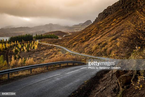 Autumn landscape at Thingvellir National Park, South Iceland
