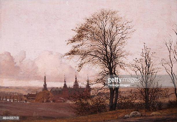 Autumn Landscape. Frederiksborg Castle in the Middle Distance, 1837-1838. Found in the collection of the Ny Carlsberg Glyptotek.