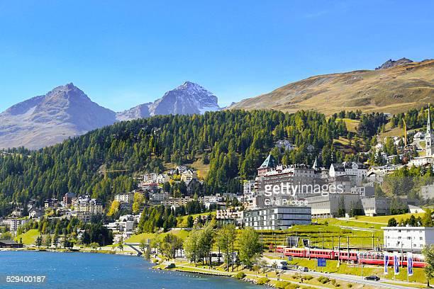 Autumn landscape in St Moritz