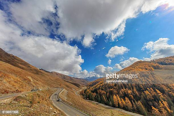 Autumn Landscape near Kanas Lake, Xinjiang, China