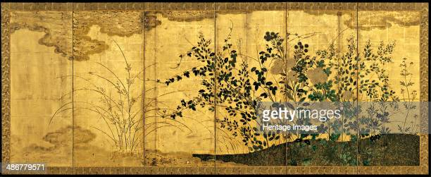 Autumn landscape with wild geese c 1650 Artist Anonymous
