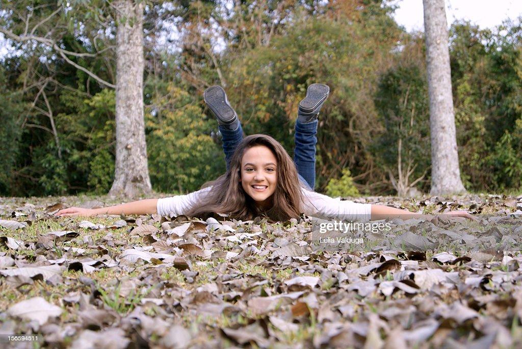Autumn leaves ... are pure fun!! : Bildbanksbilder