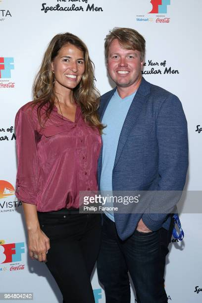 Autumn McAlpin and Michael McAlpin attend The Year of Spectacular Men premiere at the 4th Annual Bentonville Film Festival Day 4 on May 4 2018 in...