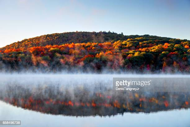 Autumn mist in the Litchfield Hills of Connecticut