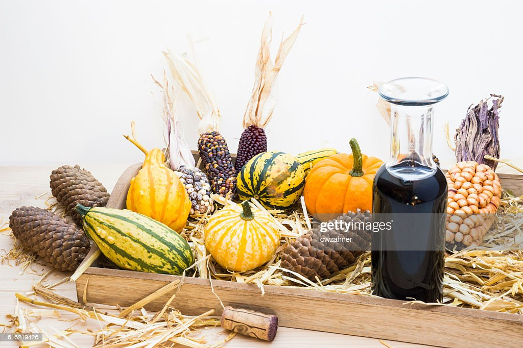 Autumn mood with decorative pumpkins : Foto stock