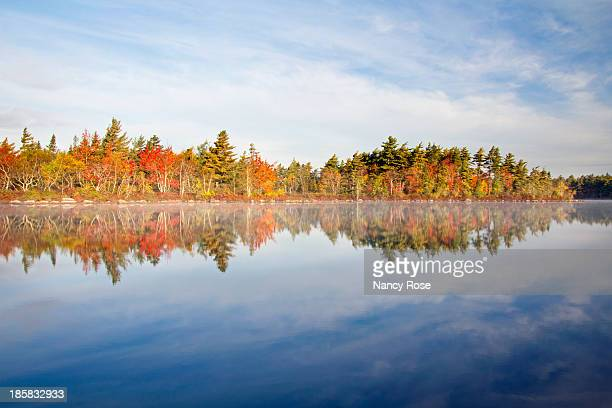 autumn morning at the lake - bedford nova scotia stock pictures, royalty-free photos & images