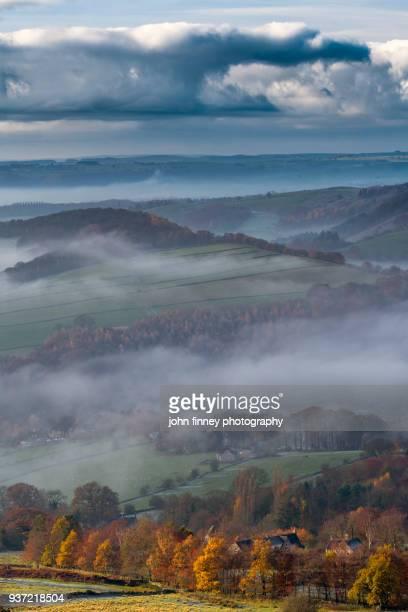 Autumn morning in the English Peak District. UK.