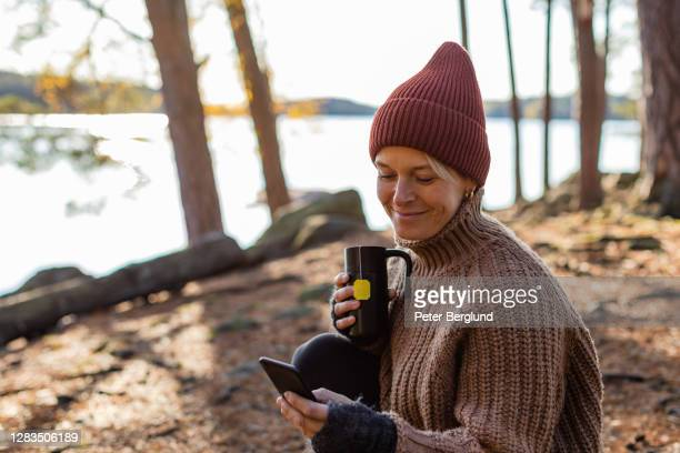 autumn morning - warm clothing stock pictures, royalty-free photos & images
