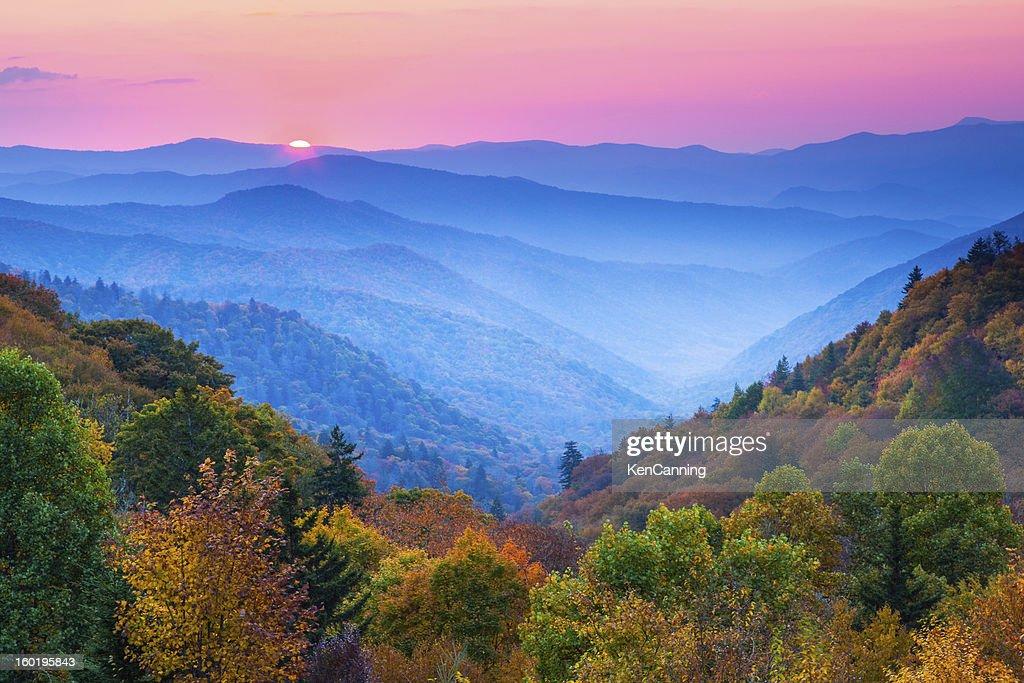 Autumn Mountain Sunrise : Stock Photo