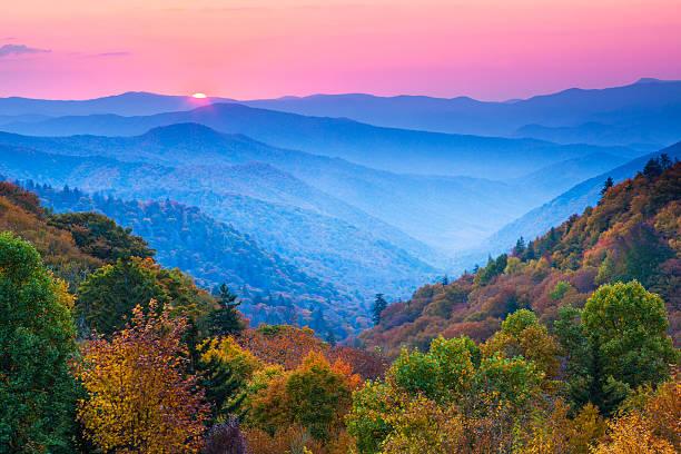 Autumn Mountain Sunrise Wall Art