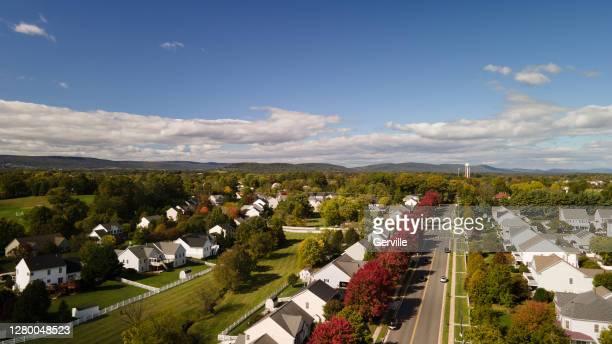 autumn neighborhood - gerville stock pictures, royalty-free photos & images
