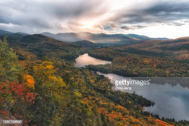 autumn of canada - quebec stock pictures, royalty-free photos & images