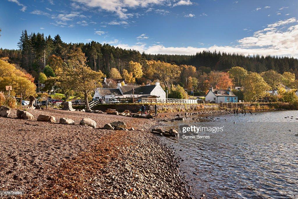 Autumn on Loch Ness, Dores : Stock Photo