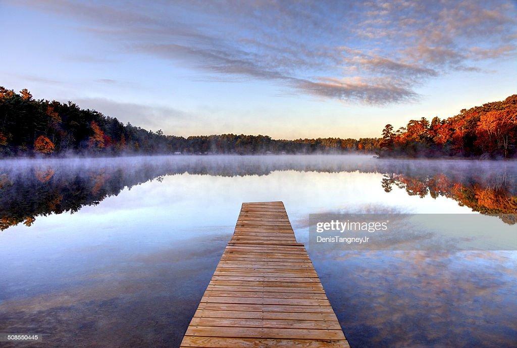 Outono na costa sul da região de Massachusetts : Foto de stock
