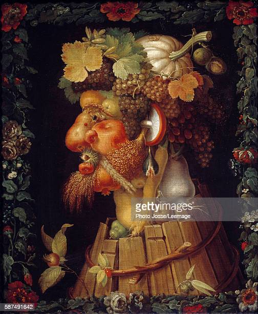 Autumn Painting by Giuseppe Arcimboldo 16th century 076 x 063 m Louvre Museum Paris