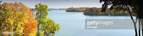 Autumn panorama of Lake Minnetonka, Minnesota.