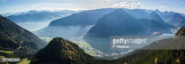 Autumn paragliding in Rofan, Achensee