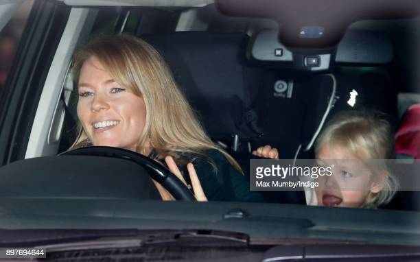 Autumn Phillips and Isla Phillips attend a Christmas lunch for members of the Royal Family hosted by Queen Elizabeth II at Buckingham Palace on...