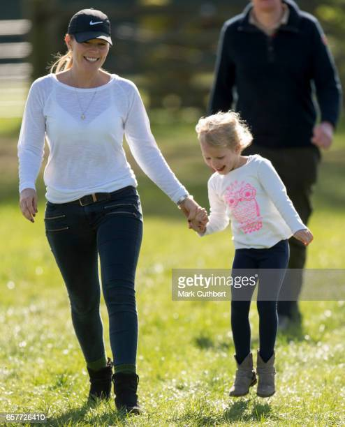 Autumn Phillips and Isla Phillips attend The Gatcombe Horse Trials at Gatcombe Park on March 25, 2017 in Stroud, England.
