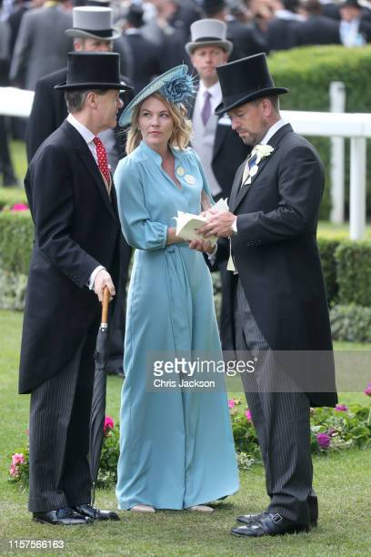 Autumn Phillips and Peter Phillips attend day five of Royal Ascot at Ascot Racecourse on June 22 2019 in Ascot England