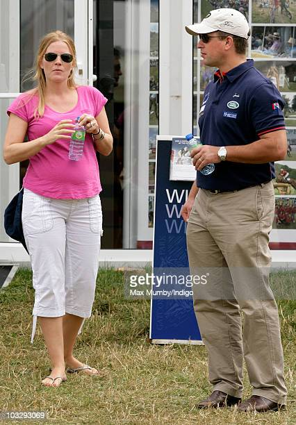 Autumn Phillips and Peter Phillips attend day three of the Festival of British Eventing at Gatcombe Park on August 8 2010 in Stroud England