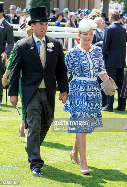 Autumn Phillips and Peter Phillips attend Royal Ascot 2017 at Ascot Racecourse on June 20 2017 in Ascot England