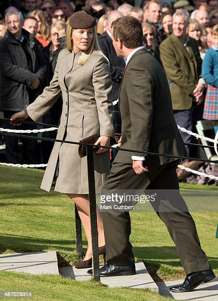 Autumn Phillips and Peter Phillips attend the Braemar Gathering on September 5 2015 in Braemar Scotland There has been an annual gathering at Braemar...