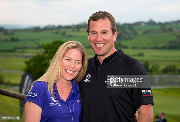 Autumn Phillips and Peter Phillips during the Mike Tindall Celebrity Golf Classic in support of Rugby for Heroes and the On Course Foundation at the...