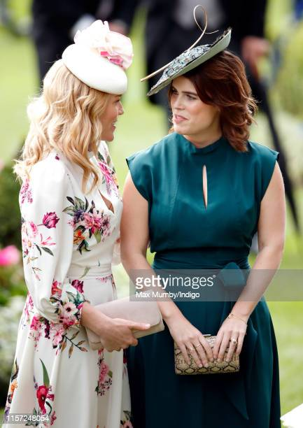 Autumn Phillips and Princess Eugenie attend day three, Ladies Day, of Royal Ascot at Ascot Racecourse on June 20, 2019 in Ascot, England.