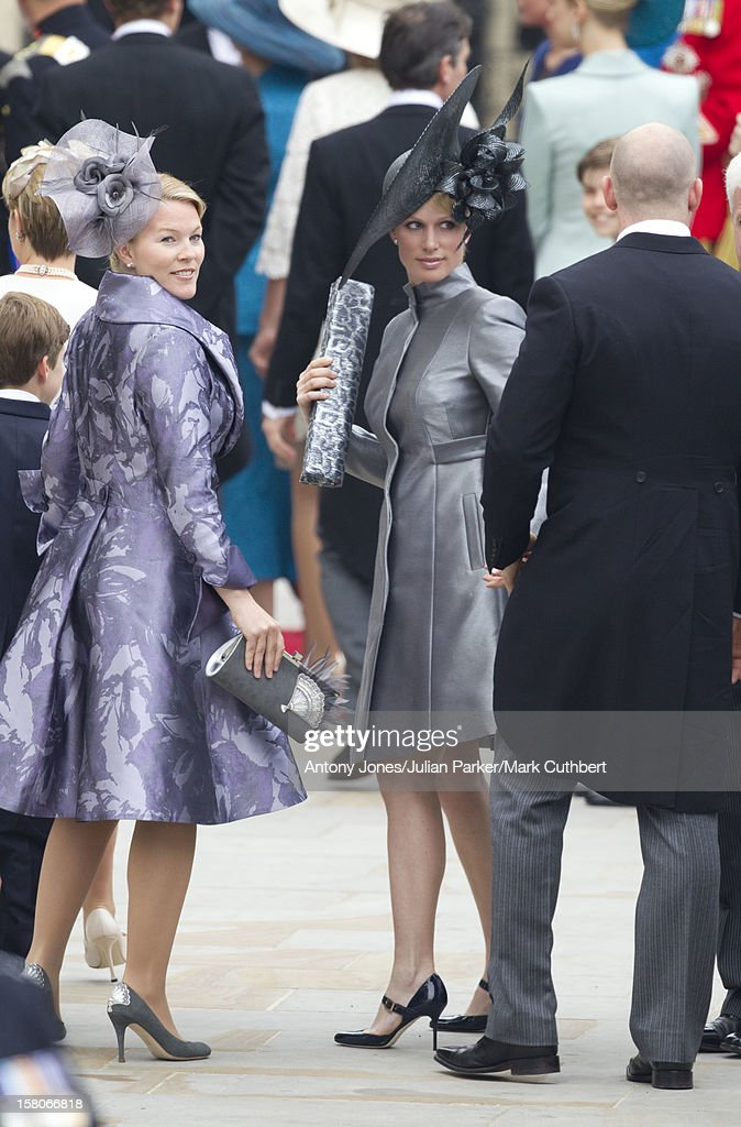 Autumn Phillips And Zara Phillips Arrive For The Wedding Of Prince ...