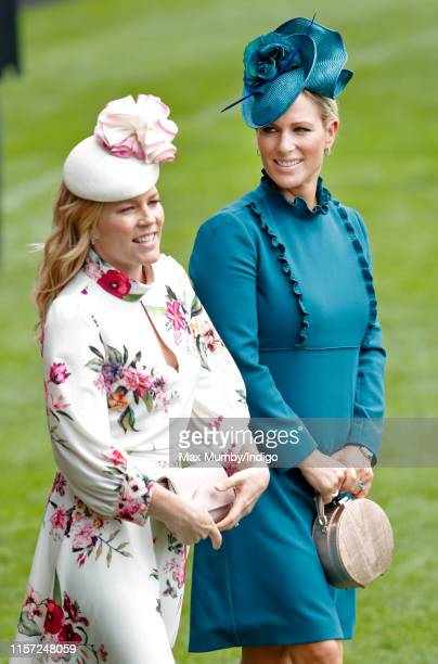 Autumn Phillips and Zara Tindall attend day three Ladies Day of Royal Ascot at Ascot Racecourse on June 20 2019 in Ascot England