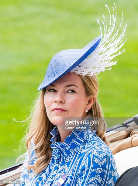 Autumn Phillips arrives by carriage during Royal Ascot Day 2 at Ascot Racecourse on June 20 2018 in Ascot United Kingdom