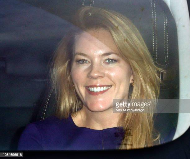 Autumn Phillips attends a Christmas lunch for members of the Royal Family hosted by Queen Elizabeth II at Buckingham Palace on December 19 2018 in...