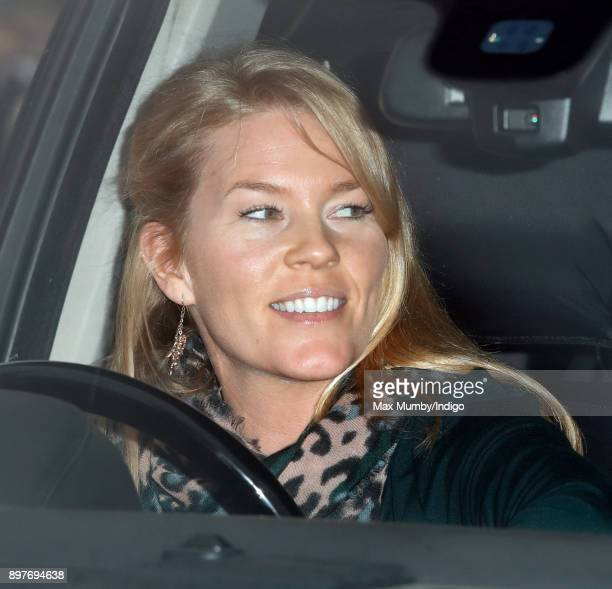Autumn Phillips attends a Christmas lunch for members of the Royal Family hosted by Queen Elizabeth II at Buckingham Palace on December 20 2017 in...