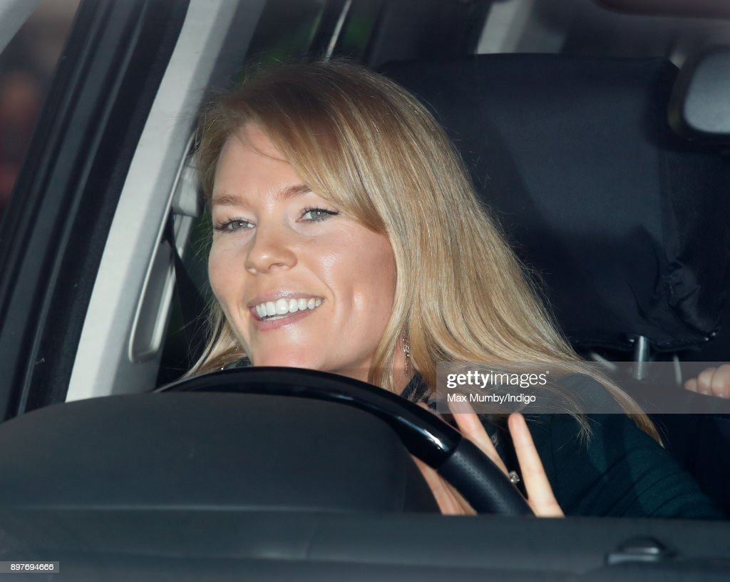 Autumn Phillips attends a Christmas lunch for members of the Royal Family hosted by Queen Elizabeth II at Buckingham Palace on December 20, 2017 in London, England.
